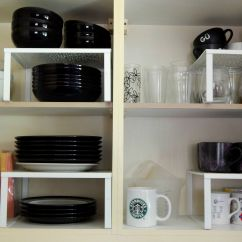 Shelves For Kitchen Cabinets Cheap Remodel Storage Solutions Cupboard Organizer Raised