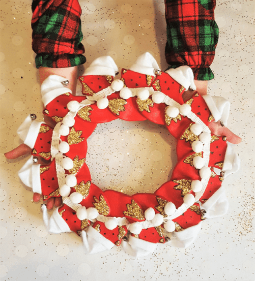This adorable DIY salt dough fox wreath is the perfect festive and easy holiday craft to do with kids!
