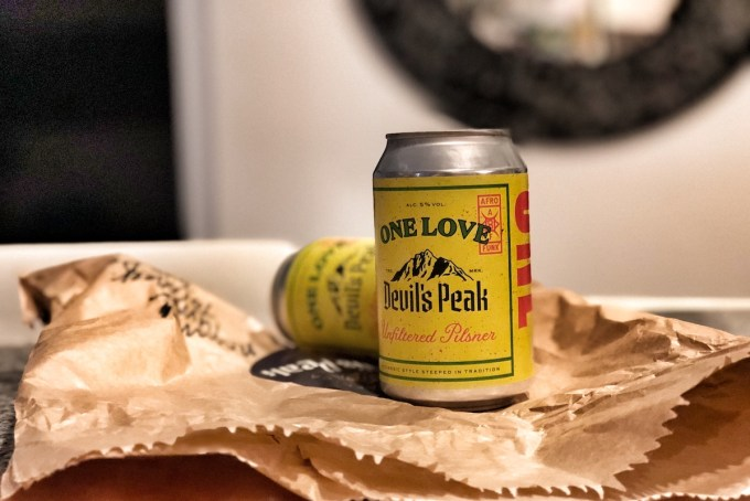 Devil's Peak One Love Unfiltered Pilsner