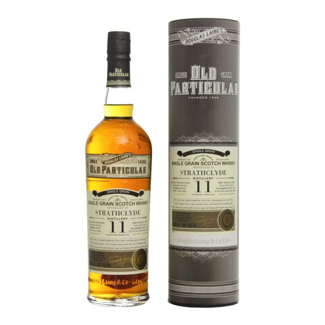 Strathclyde 11yo by Douglas Laing's Old Particular (Single Cask Grain Scotch Whisky Glasgow Sherry Tasting Notes)