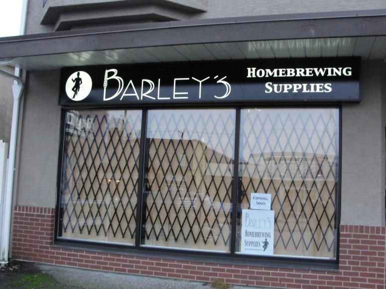 Barley's Storefront Jan 2013