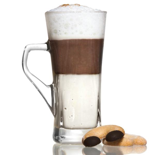 Genware Geo Tall Coffee Glasses 12oz  335ml  Coffee