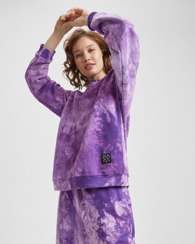 Свитшот женский «Тай Дай» фиолетовый