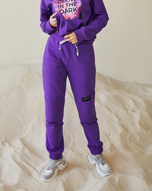 Брюки спортивные женские фиолетовые