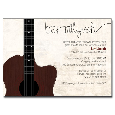 Themed Bar Mitzvah Invitations