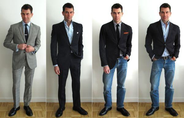 roupa social com calça jeans