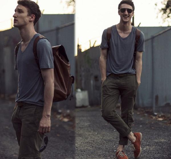 calça cargo look masculino