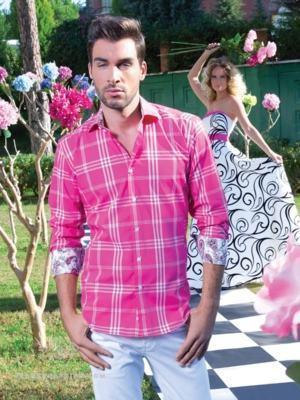 camisa rosa xadrez