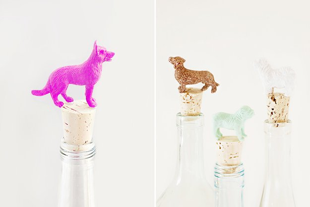 DIY wine toppers