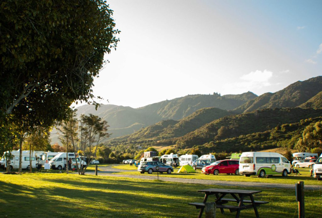 The Barn Cabins and camping marhau campground in the abel tasman