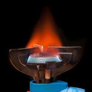 Abel Tasman Trips - Gas cooker burning