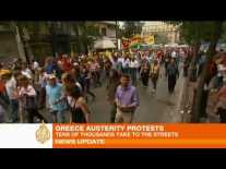 Greece - Anti-austerity riots, and deaths on the streets of Athens May 2010