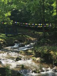 Creek with prayer flags