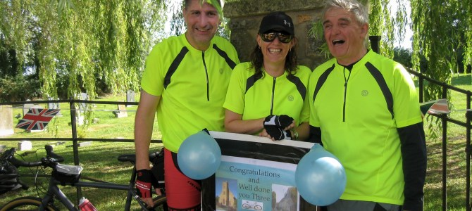 Calling All Saints Cycle Challenge Completed!