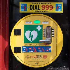 Village Defibrillator Installed