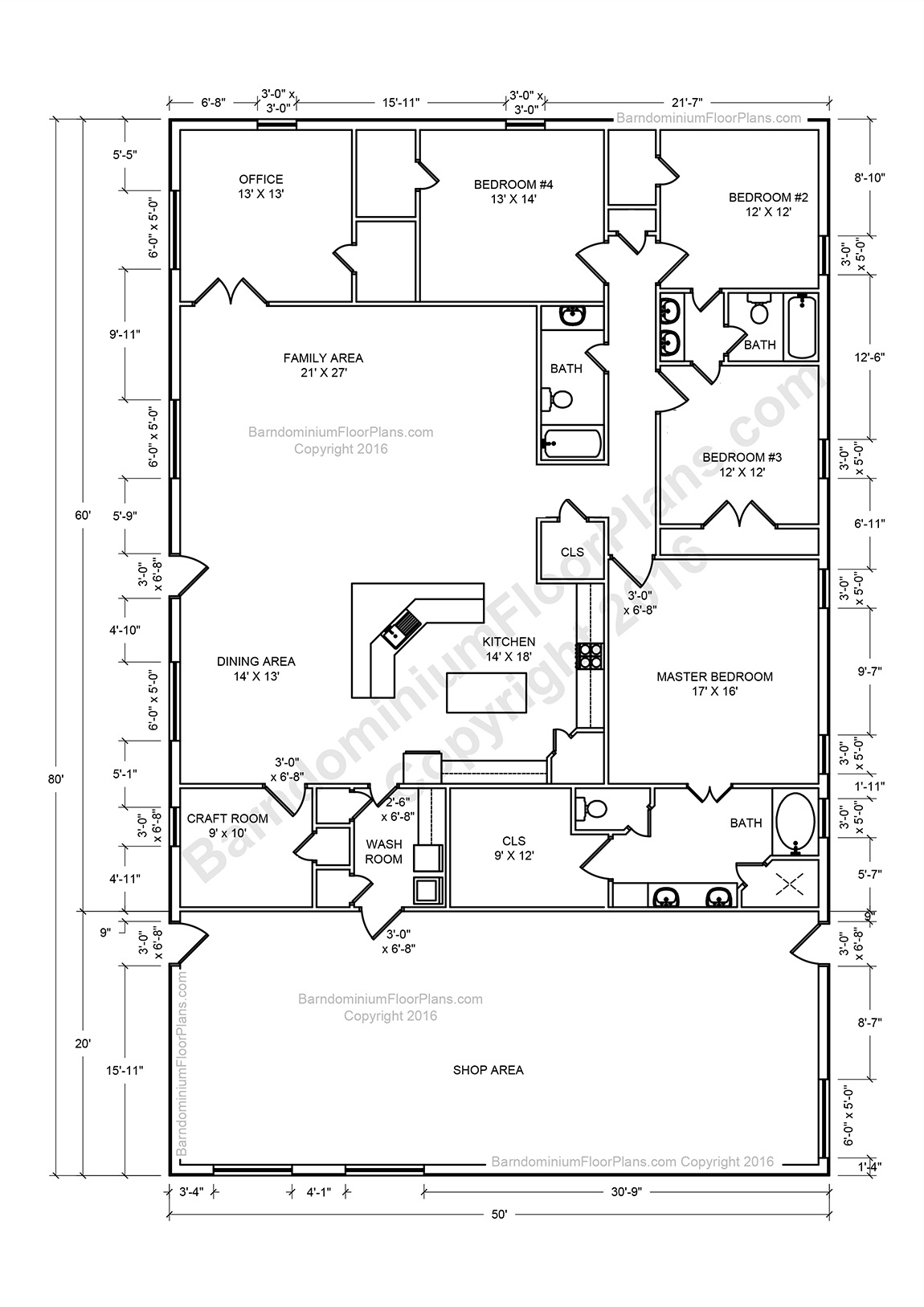 Barndominium Floor Plans, Pole Barn House Plans and Metal