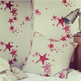 star cushion & wallpaper