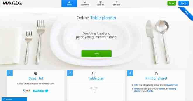 magisk bordplan fødselsdag bryllup dåb