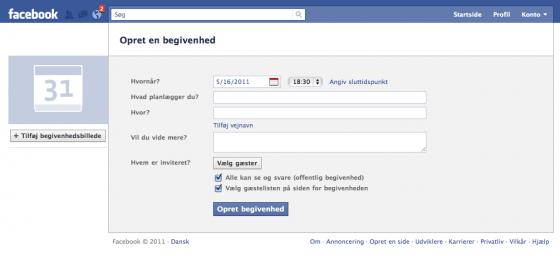 facebook begivenheder