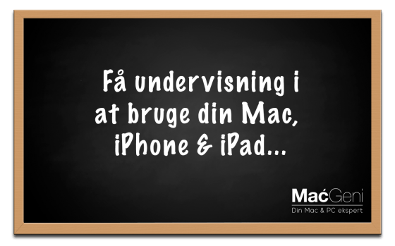 undervisning i mac iphone ipad macgeni - begynder photoshop wordpress øvet iphoto undervisning