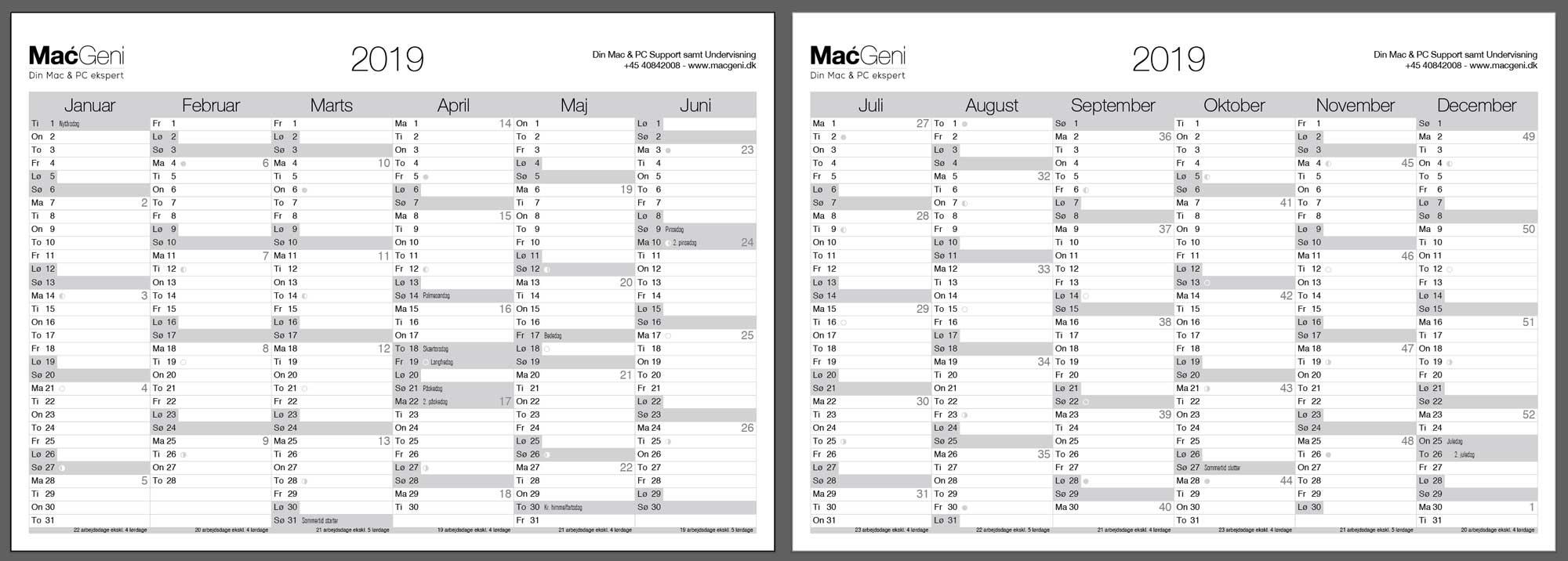kalender udskriv