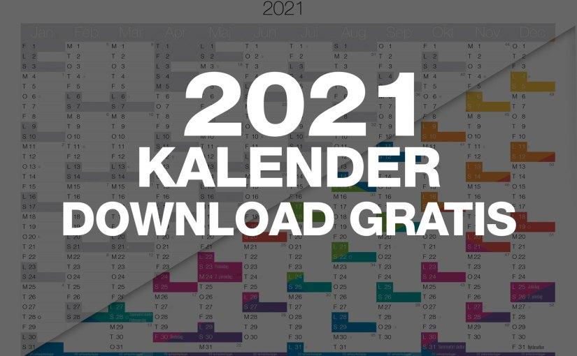 Download Gratis 2021 Kalender – Print selv PDF, i A4 eller A3 størrelse