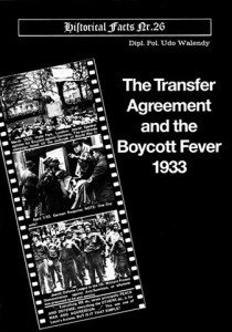 The Transfer Agreement and Boycott Fever of 1933