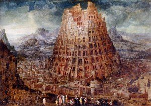 """The Tower of Babel"" by Marten van Valckenborch"