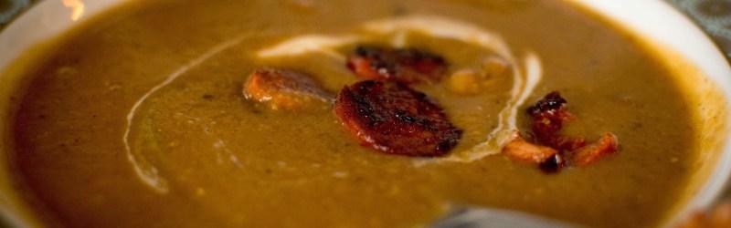 Oppskrift :: Potensielt vegansk linsesuppe (med chorizo eller kylling)