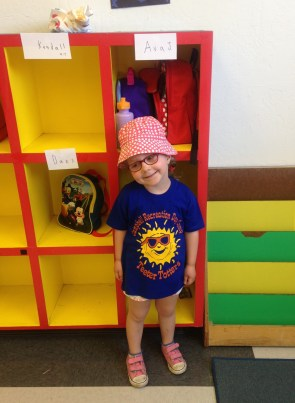 Ava's first day at summer camp.