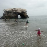 Natural Bridges beach, Ava-style.
