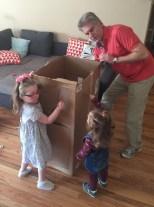 Cardboard aerodynamics with Grandpa.