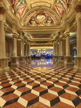 Eye-bending lobby at The Venetian.