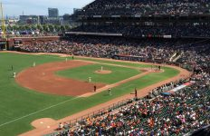 Enduring four hours of boredom at AT&T park. Good hot dogs though.
