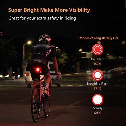 USB Rechargeable LED Bicycle Cycling Tail Light Bike Safety Warning Lamp //ND
