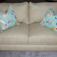 Sofa With Recliners Slipcover Bed Grey Fabric Barnett Furniture - Robin Bruce Brooke