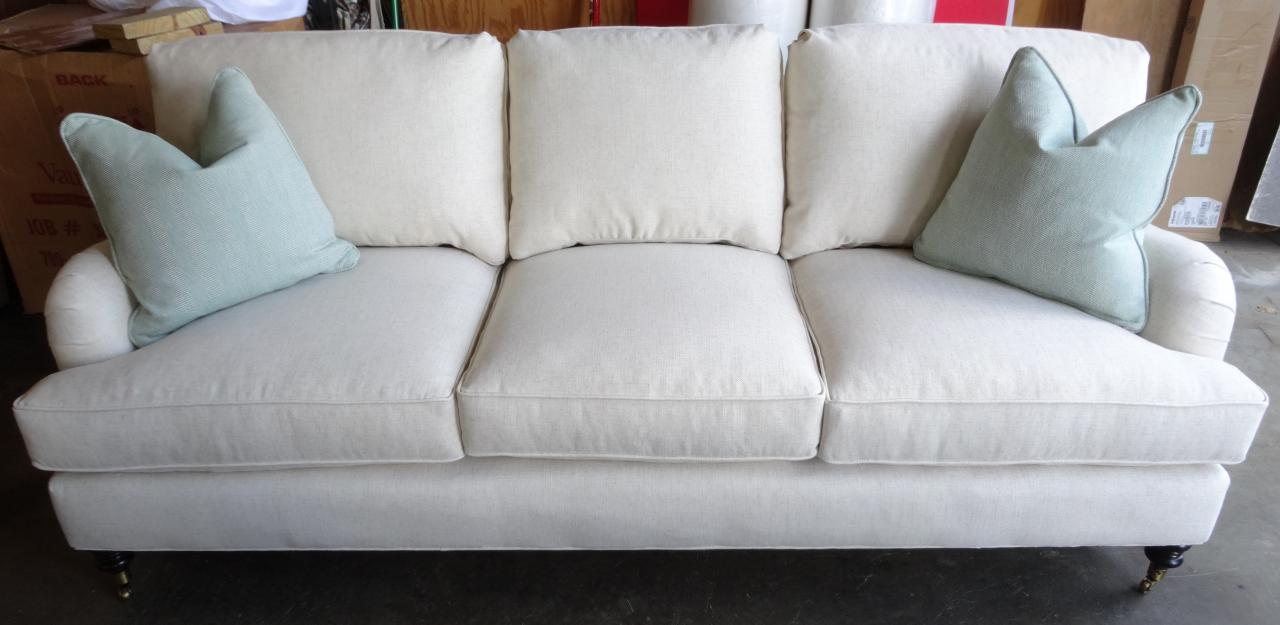 sofa with recliners slipcover red pillows barnett furniture - robin bruce brooke