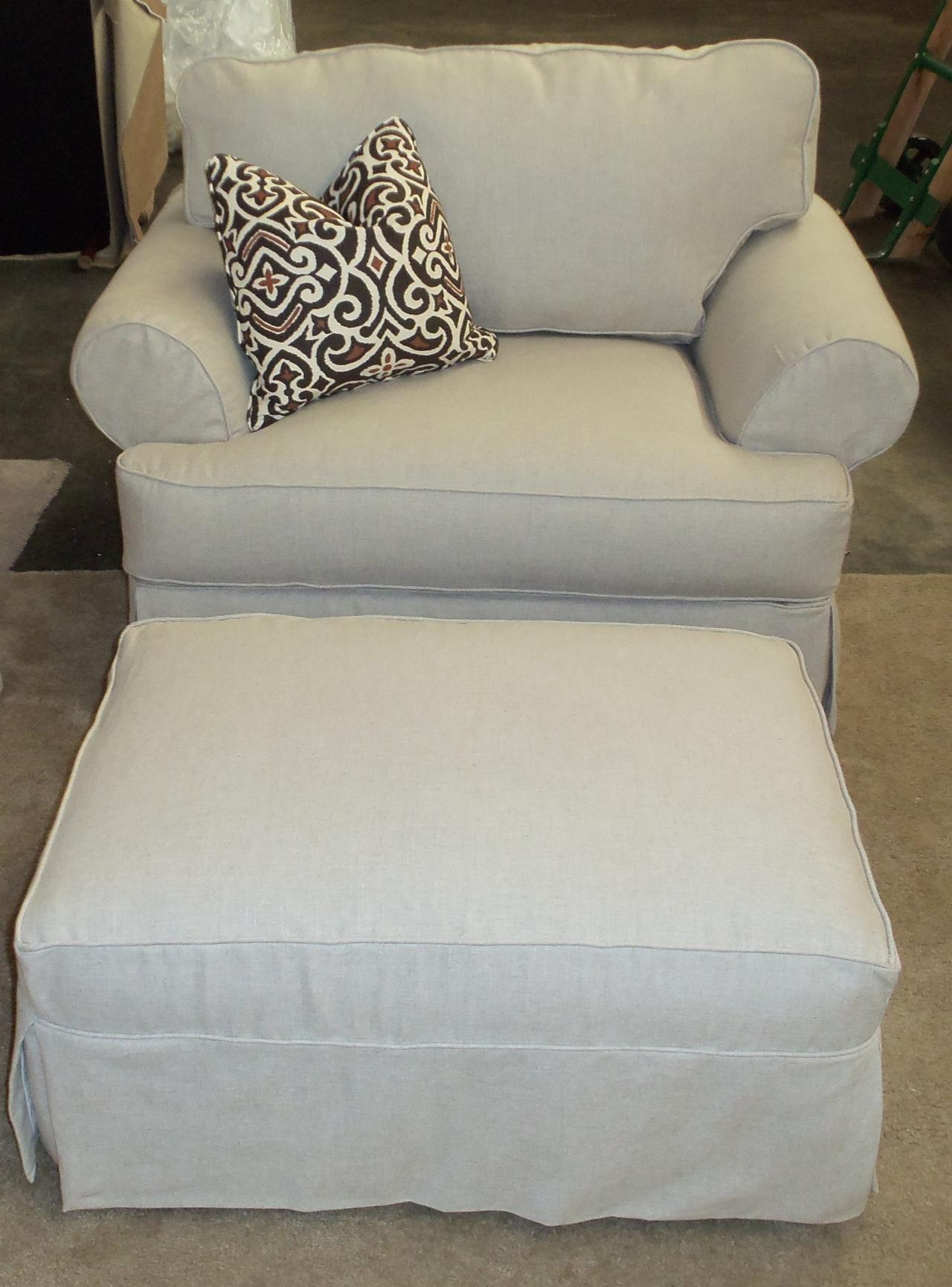 Slipcover For Oversized Chair And Ottoman Barnett Furniture Rowe Furniture Addison Slipcover