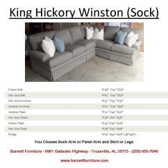 King Hickory Sofa Winston Wall Bed Uk Barnett Furniture Sectionals