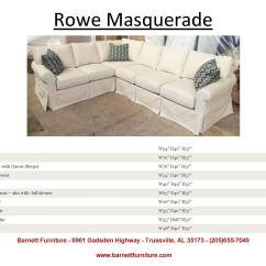 Rowe Masquerade Sectional Sofa Reupholster Antique Barnett Furniture Slipcover Sofas Sectionals Chair And