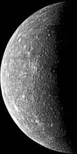 il terminatore su Mercurio (C) NASA