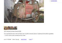 1954 American LaFrance Fire Truck Craigslist Find