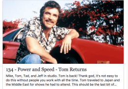 Toms back