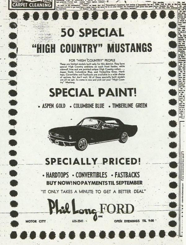First Special Edition: 1966 Mustang HCS