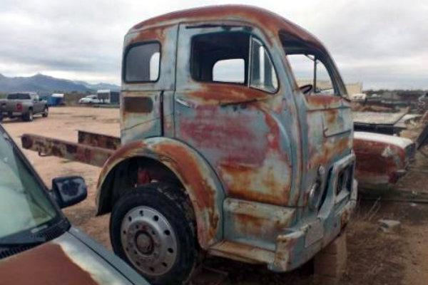 Stub Nose 1955 White Truck Cab