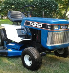 tiny tractor ford lgt 120 garden tractor rescued  [ 1600 x 1200 Pixel ]