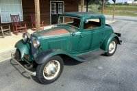 Steel 1932 Ford 3 Window Coupe For Sale