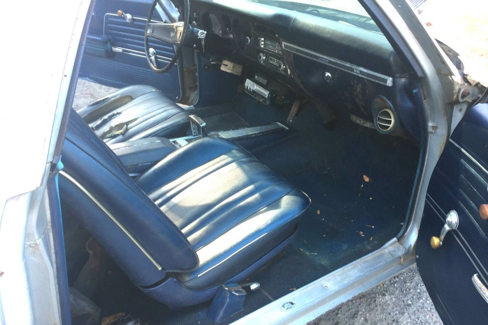 medium resolution of the dark blue interior with the silver exterior is a lovely color combination for this el camino