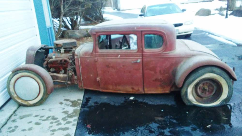 medium resolution of this 32 chevy has been chopped channeled and equipped with a v8 it was parked in a barn in 1962 and that s where it stayed until