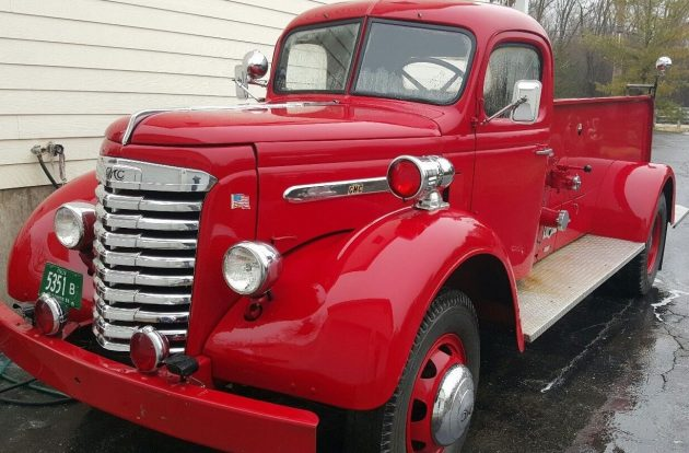 About That Dog 1940 Gmc Fire Engine